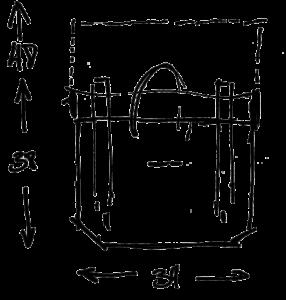 Dimensions porte écouteurs besace Gregory Capel atelier de maroquinerie à Roubaix
