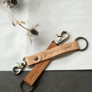 Porte clés en cuir Paul Paule par Grégory Capel atelier de maroquinerie Lille