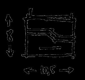 Dimensions porte monnaieGregory Capel atelier de maroquinerie à Roubaix