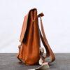 Sac à dos cuir marron Gabriel Gabrielle par gregory Capel atelier de maroquinerie Lille