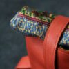 sac andré cuir rouge par Gregory Capel atelier de maroquinerie Lille