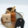 ensemble 2 porte ecouteur emmanuel emmanuelle nude camel noir